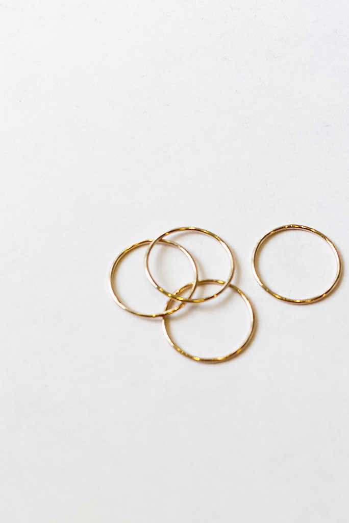 Classic Ring Set in Rose Gold- Size 6