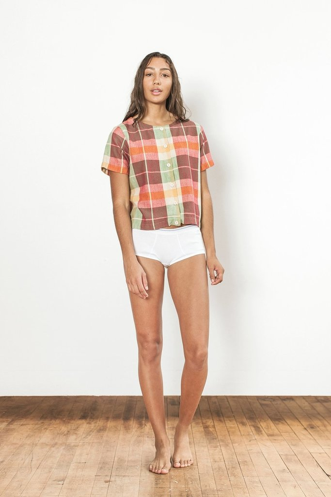 Ace & Jig Ace & Jig Cotton Plaid Ollie Tee