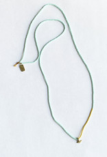 Satomi Studio Petite Anchor Necklace / Brass, Glass Beads