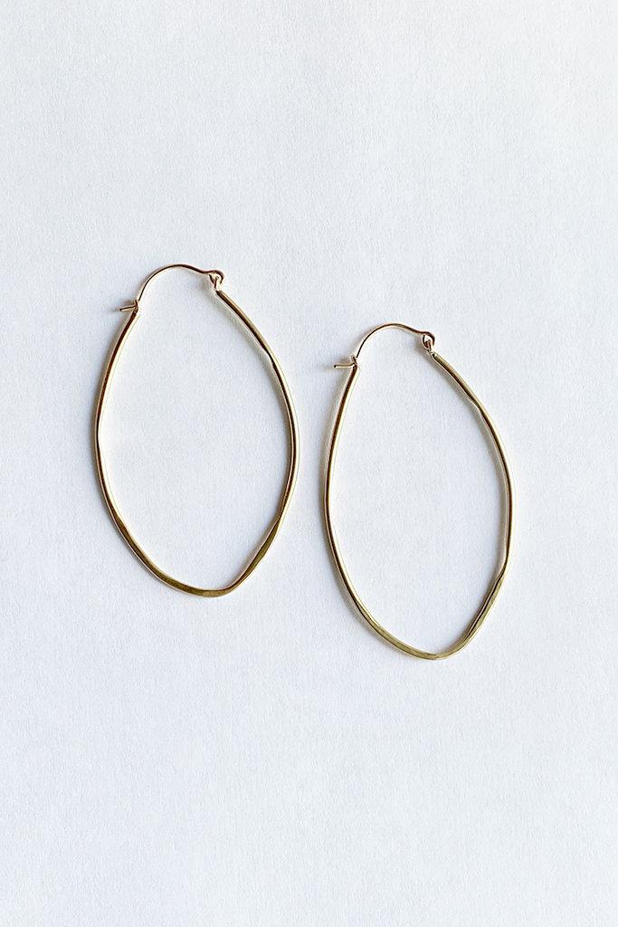 Satomi Studio Brass Oval Shaped Hoops