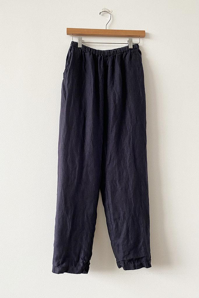 Linen Rosie Elastic Waist Pants - Size L