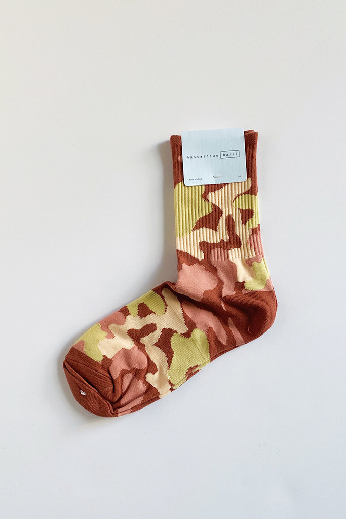 Hansel From Basel Hansel From Basel Camo Sporty Crew Sock - Multiple Colors