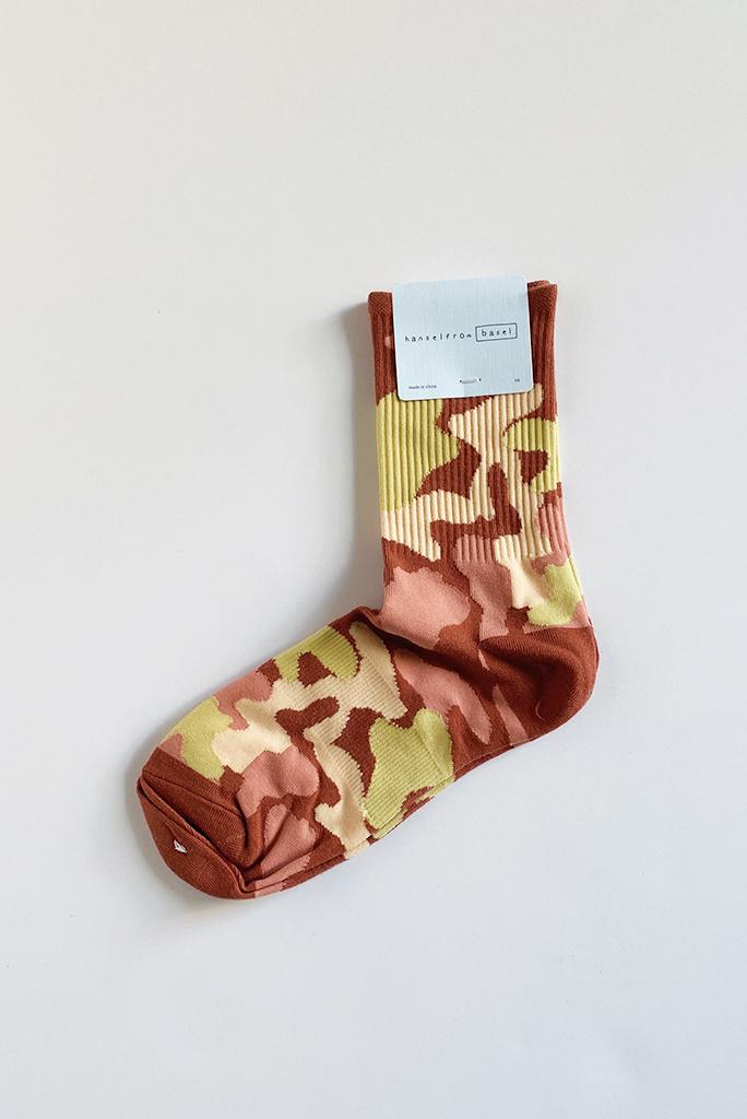 Hansel From Basel Hansel From Basel Camo Sporty Crew Sock - Multiple Colors