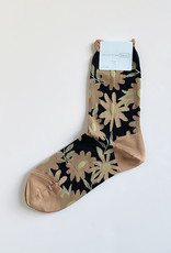 Hansel From Basel Hansel From Basel Meadow Crew Sock Black Floral