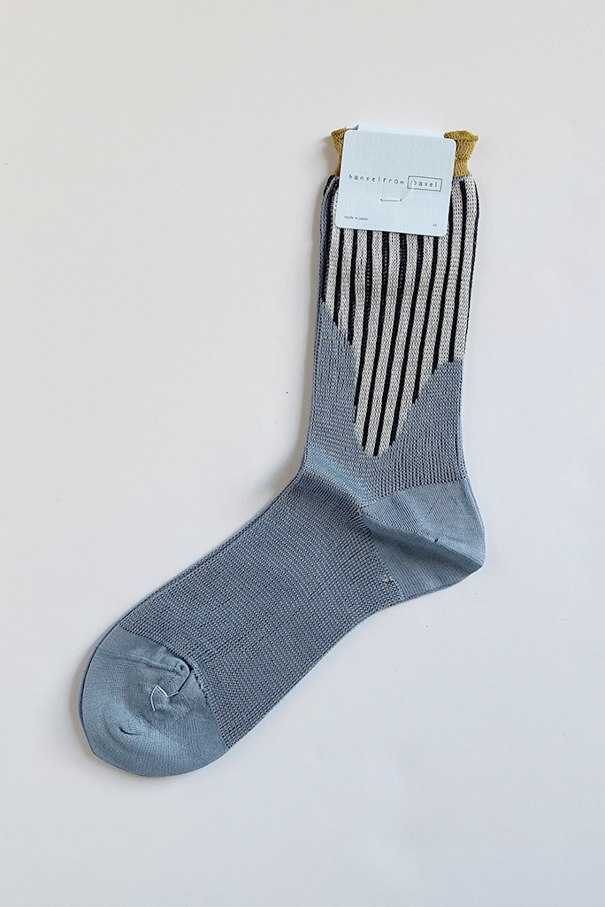 Hansel From Basel Hansel From Basel Hydra Mesh Crew Sock Blue Grey