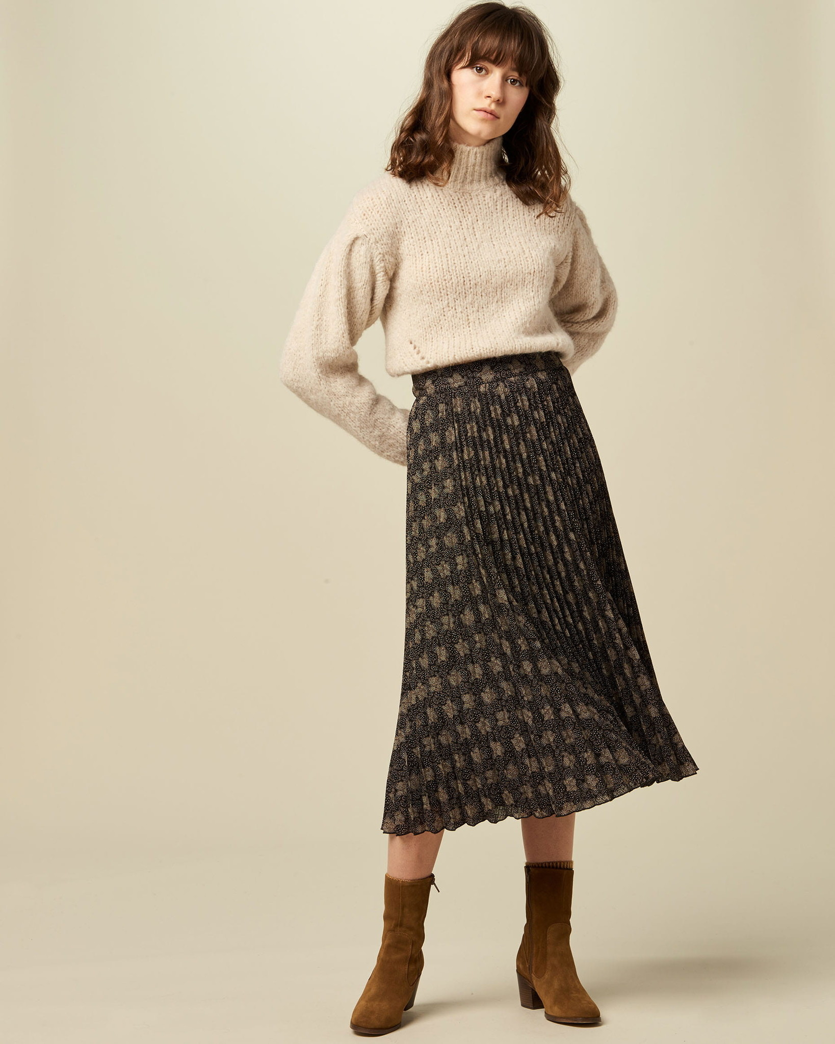 Sessun Sessun Nu Coleen Pleated Skirt  - Size 38