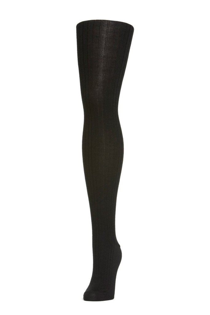 Hansel From Basel Hansel From Basel Rib Wool Tights in Black