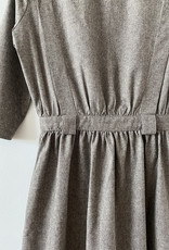 Sessun Yellow Sub Tweedy Dress in Grey