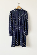 Sessun Sessun Claro Navy High Neck Dress - Size M