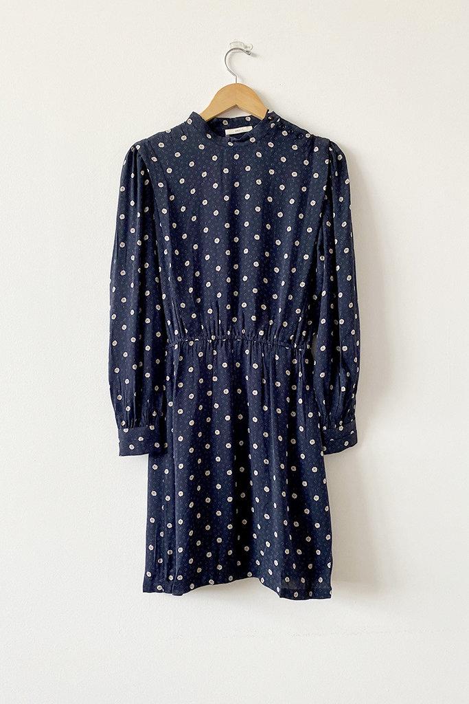 Sessun Claro Navy High Neck Dress