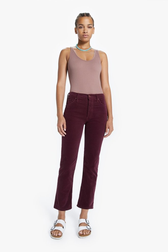 Mother Mother Hustler Ankle Jean in Grape - Size 25