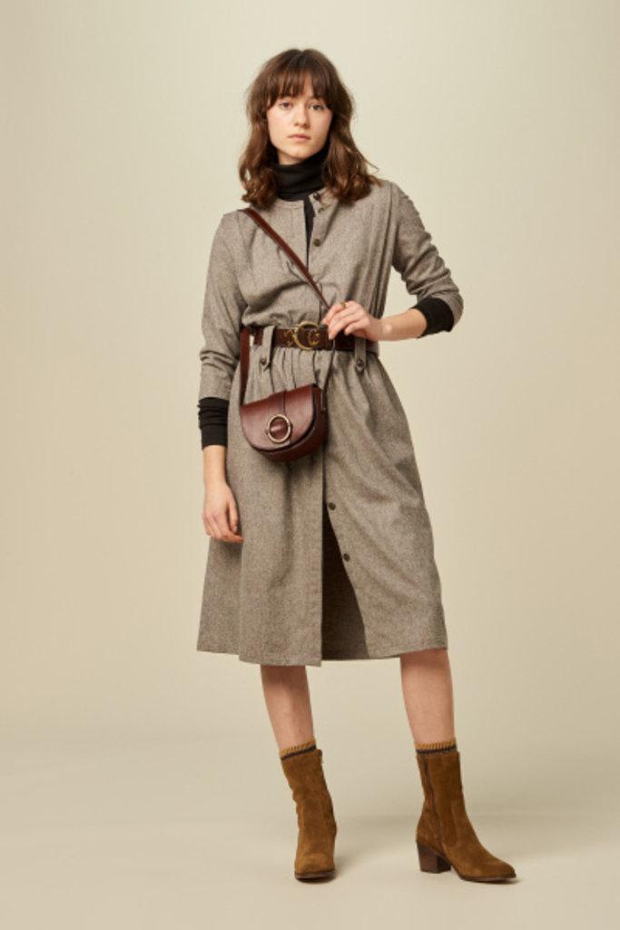 Sessun Sessun Alpaga Tweedy Dress in Grey