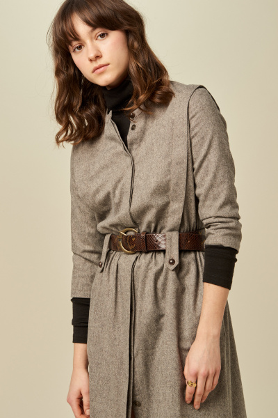Sessun Sessun Alpaga Tweedy Dress in Grey