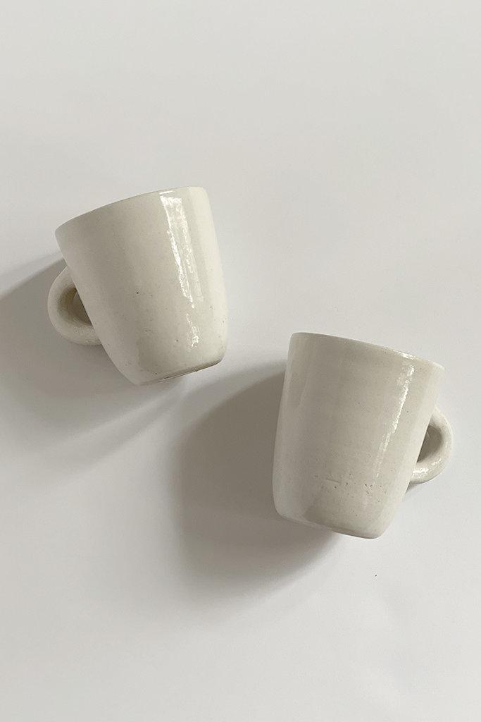 Alice Cheng Studio Solid  White Ceramic Mugs