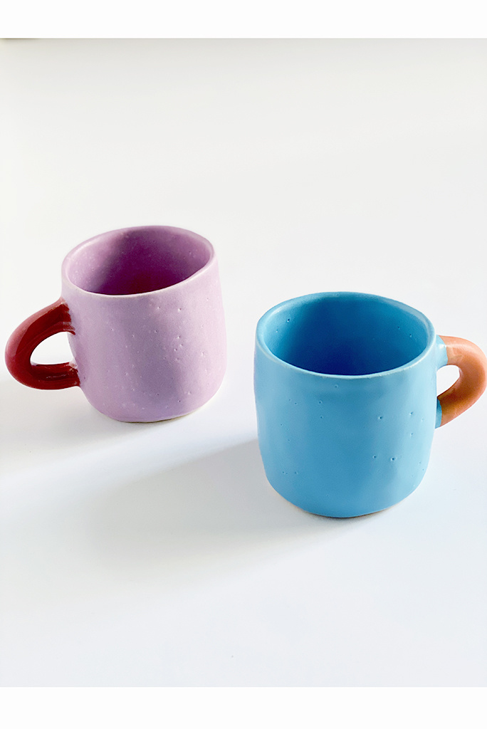 Alice Cheng Studio Ceramic Mugs in Multiple Colors