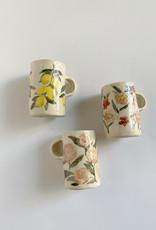 Alice Cheng Studio Large Fruit Floral Mugs