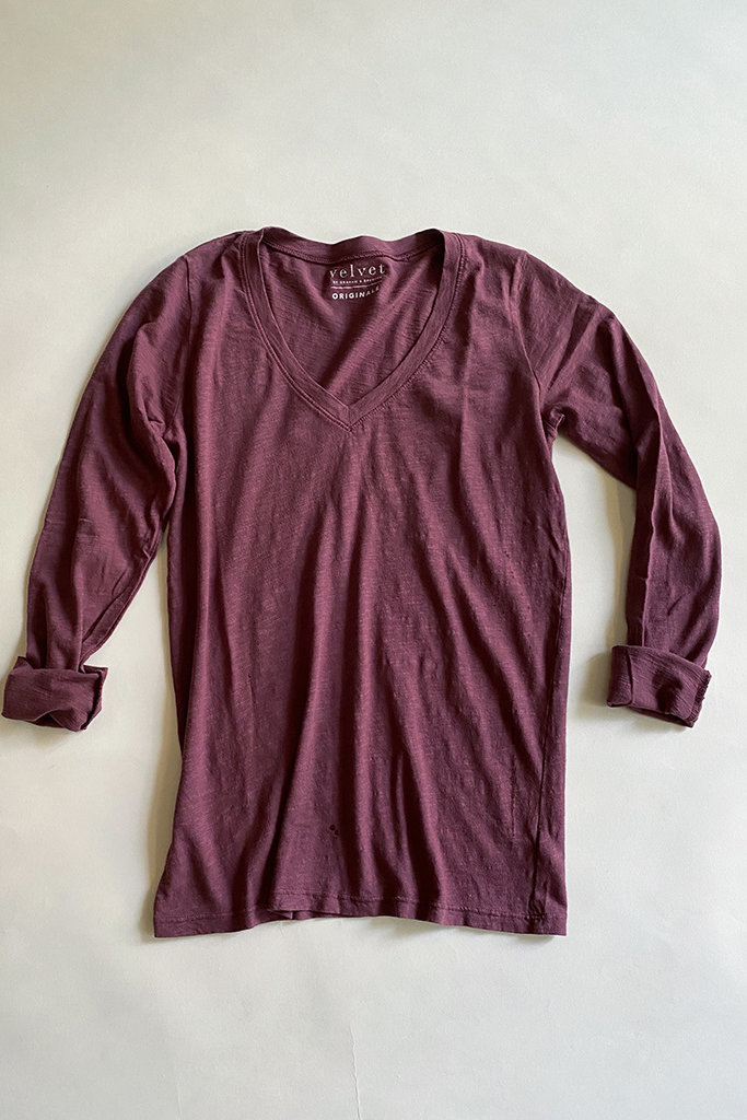 Velvet Velvet Blaire V Neck Top - Size Small