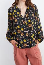 Velvet Velvet Sidra Open Neck Floral Pesant Top