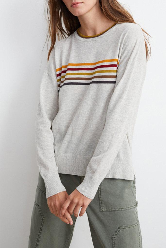Velvet Velvet Melody Striped Crew Neck Sweater