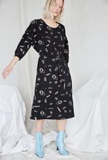 Eve Gravel Eve Gravel Prairie Dress in Black Squiggle Print