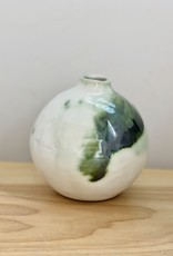 Alice Cheng Studio Small Copper Oxide Green Porcelain Vase
