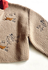 Saralam Wool Seed Stitch Embroidered Jacket- Size M