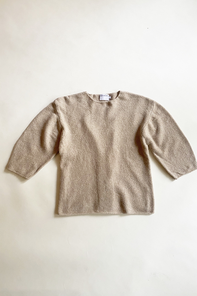 Saralam Knitted Scoop Sweater