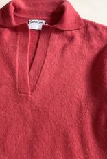 Saralam Soft Wool Yak Blend Knit Polo Sweater