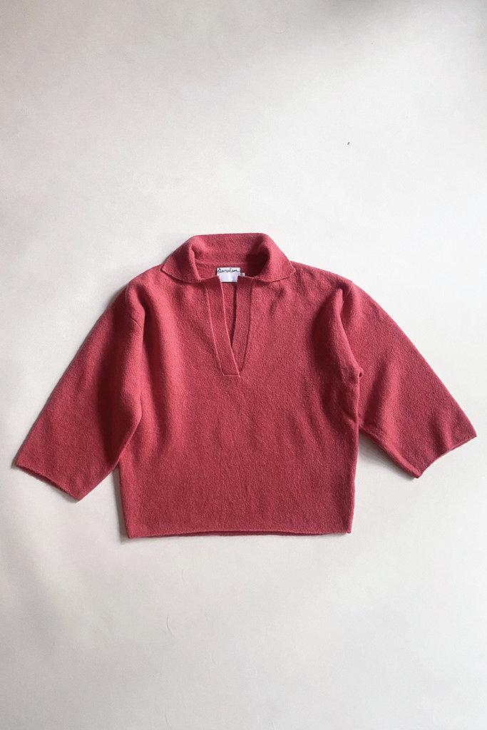 Saralam Soft Wool Yak Blend Knit Polo Sweater - M/L