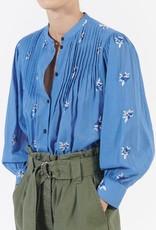 masscob Kalinda Cotton Top in Blue Floral Print