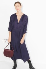 masscob Linn Navy Silk Blend Floaty Dress