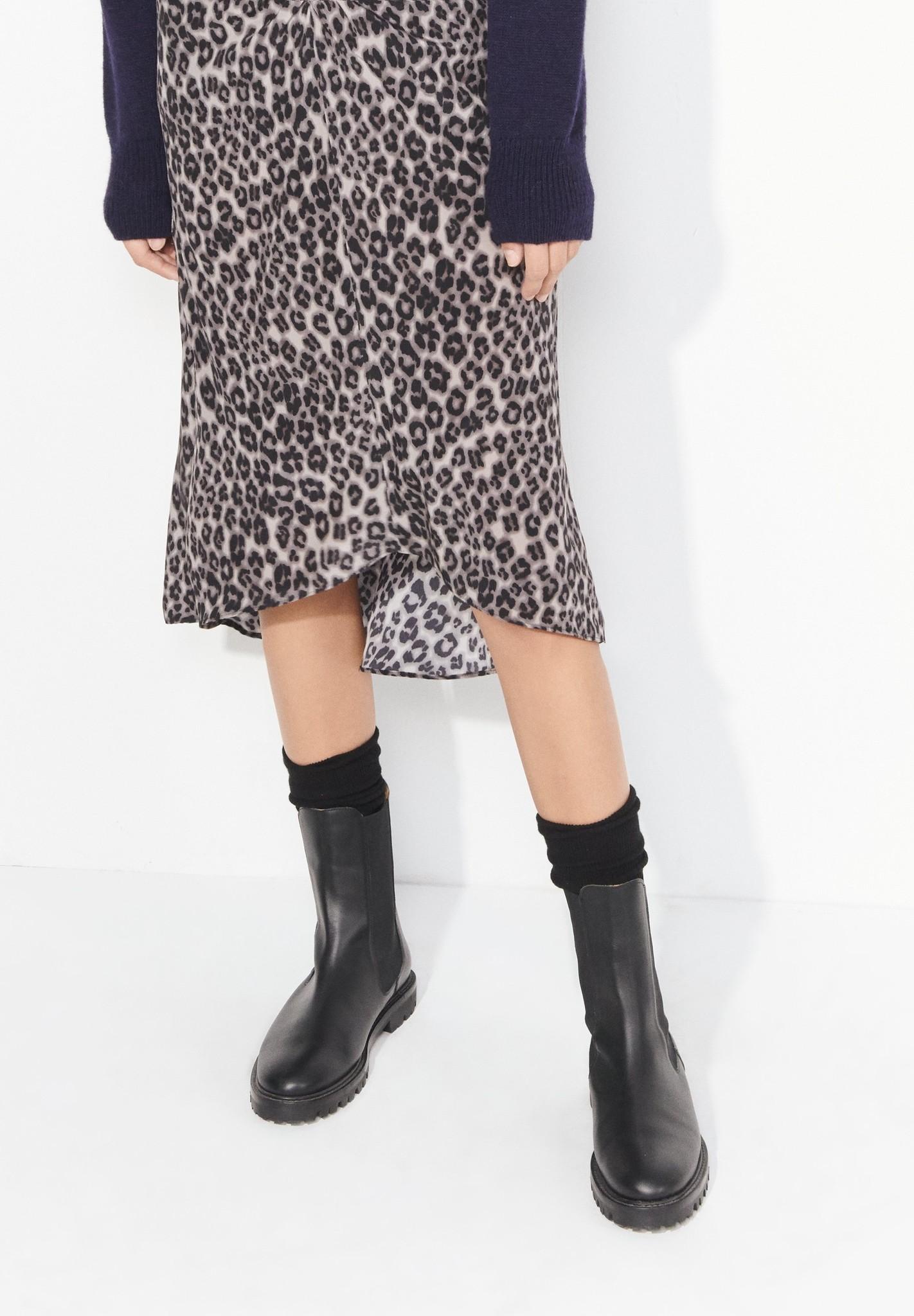 masscob Herman Black Leather Chelsea Boots