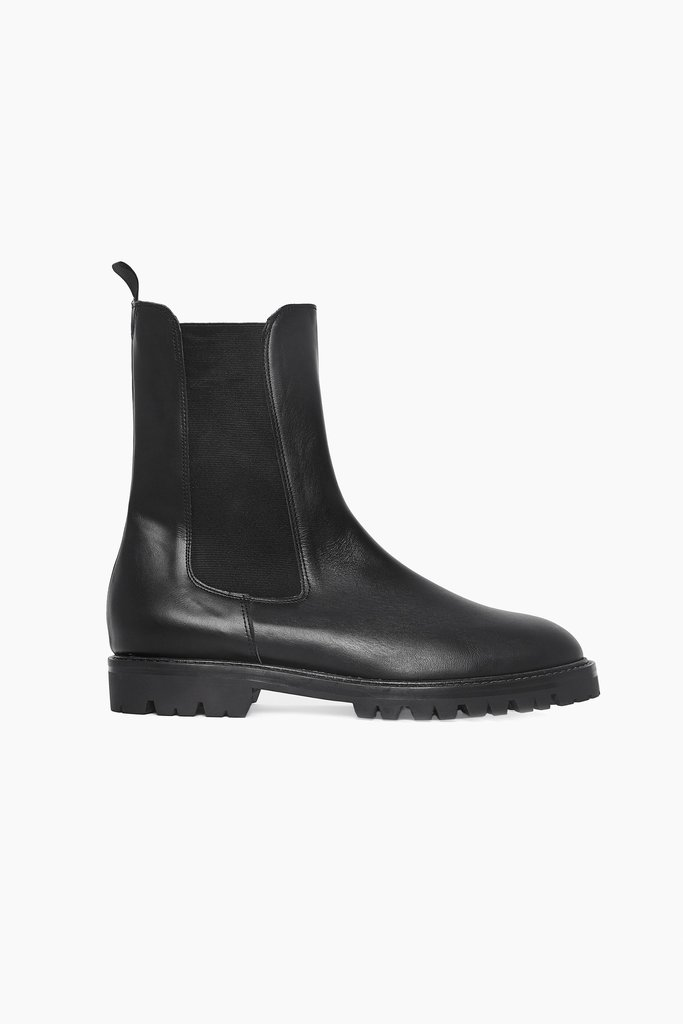 masscob Herman Black Leather Chelsea Boots