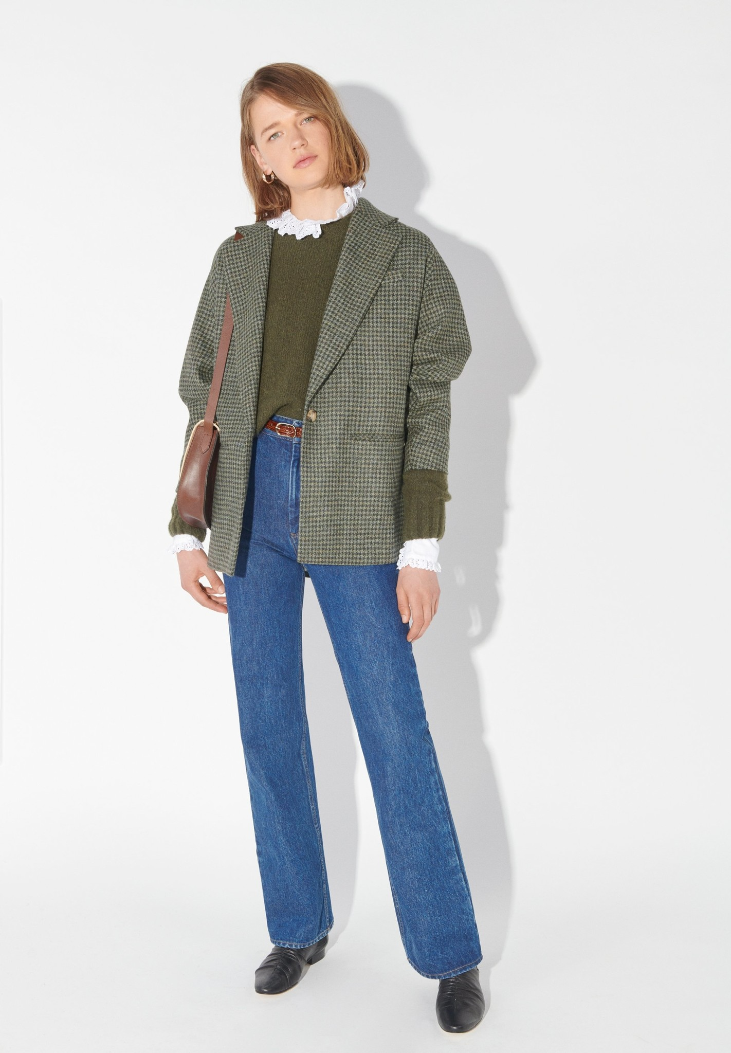 masscob Harold Oversized Tweedy Jacket