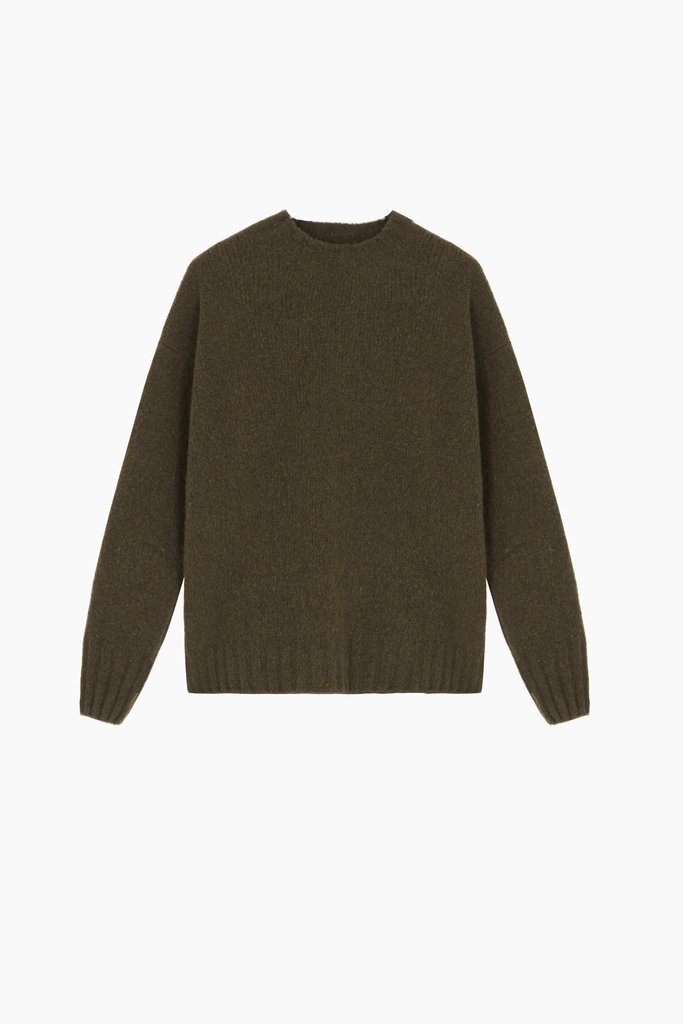 masscob Tijuca Crew Neck Khaki Sweater