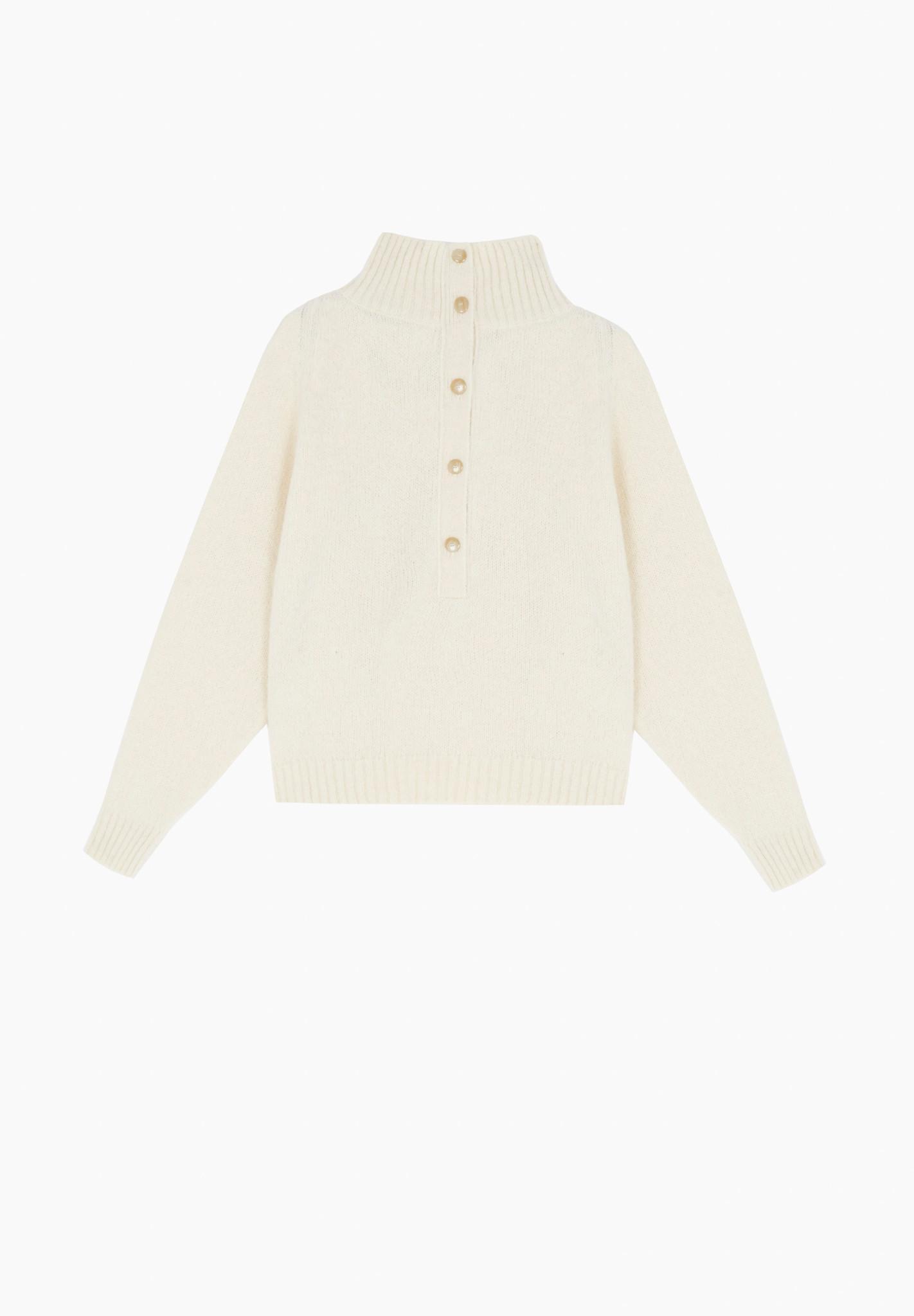 masscob Bellver Half-Button Collard Sweater