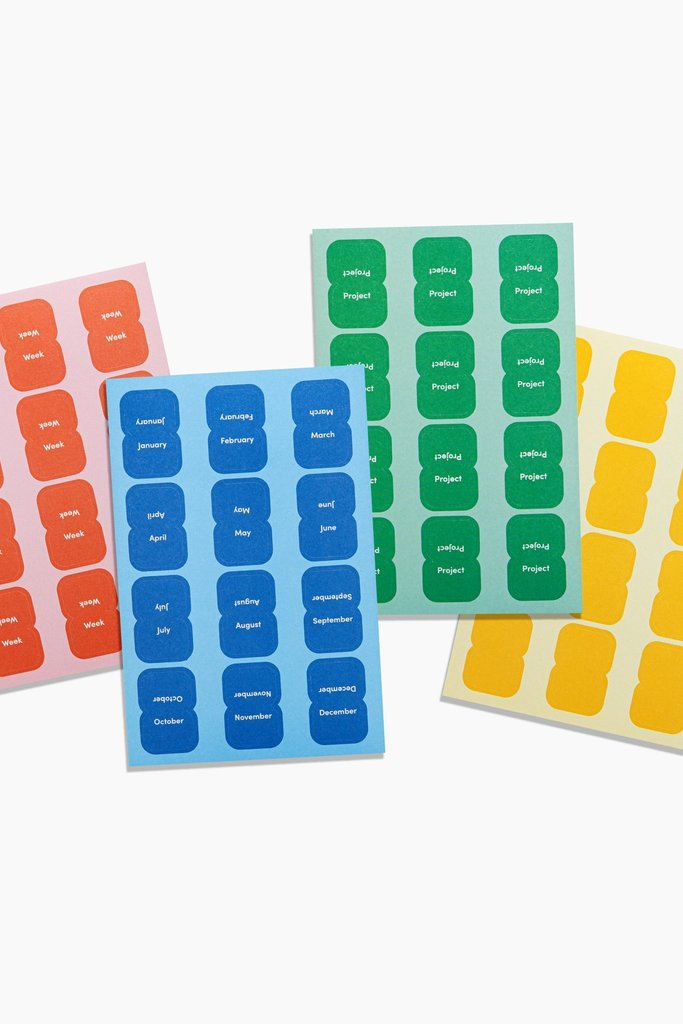 Poketo VIS Vibrant Organizational Sticker Tabs