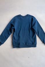Correll Correll Teal Velvet Square Crewneck Sweatshirt - Size XS
