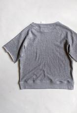 Cut off Sleeve Crew Sweatshirt - size S