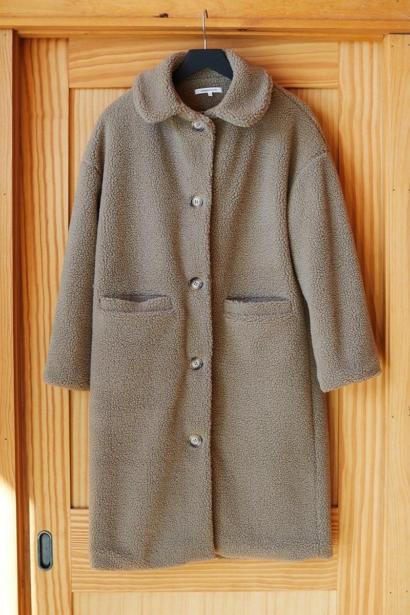 Emerson Fry Sherpa Midi Coat  - Size S
