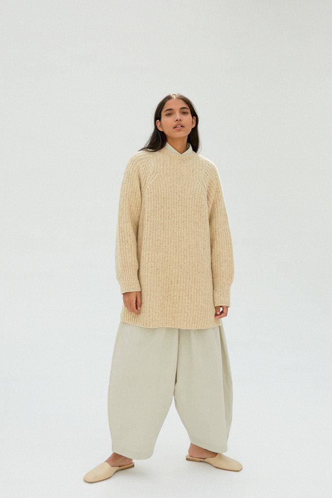 Monica Cordera Chunky Knit Soft Wool Sweater OS