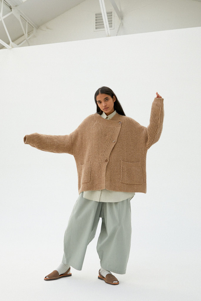 Monica Cordera Chunky Soft Wool Cardigan OS