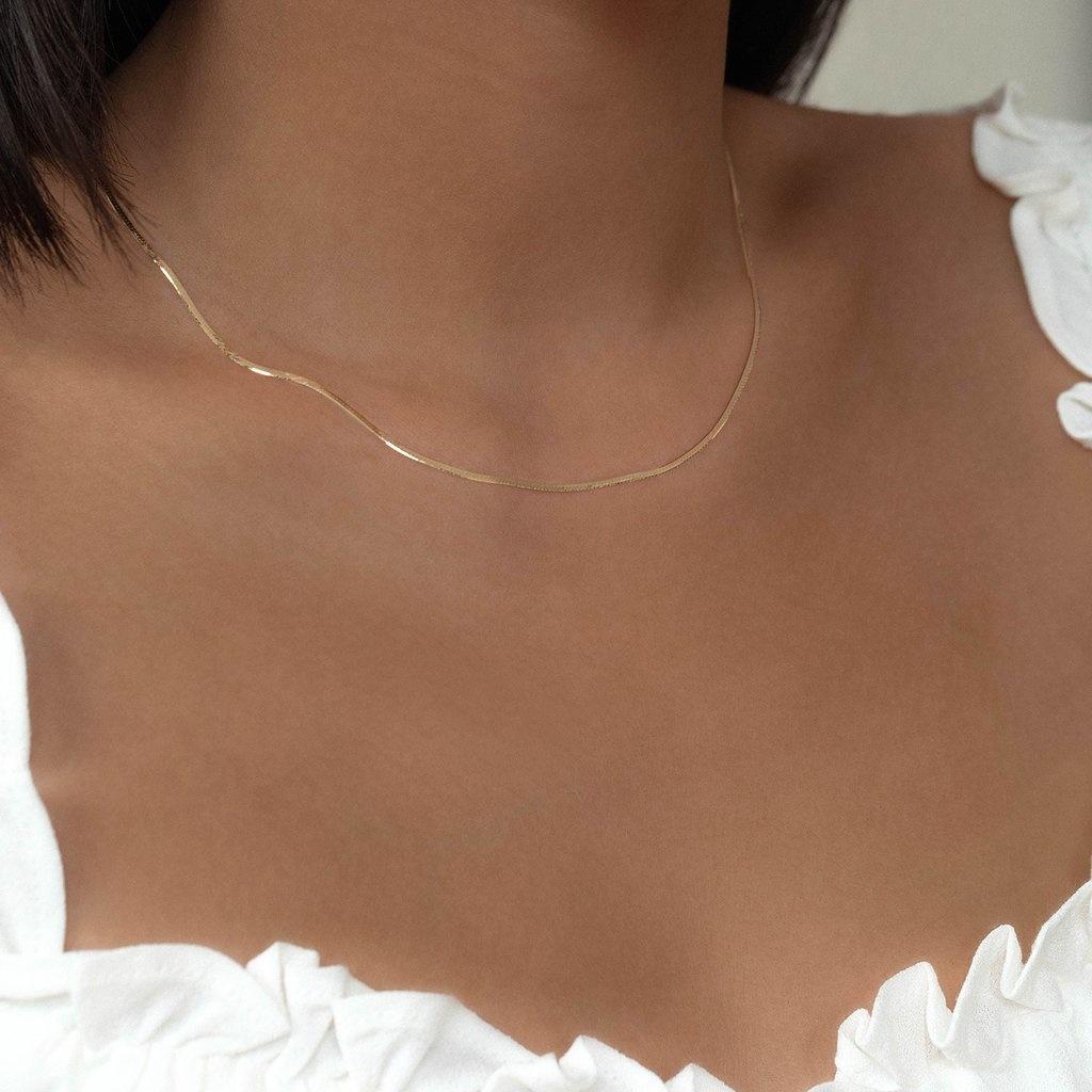 Herringbone Chain 10KT Gold