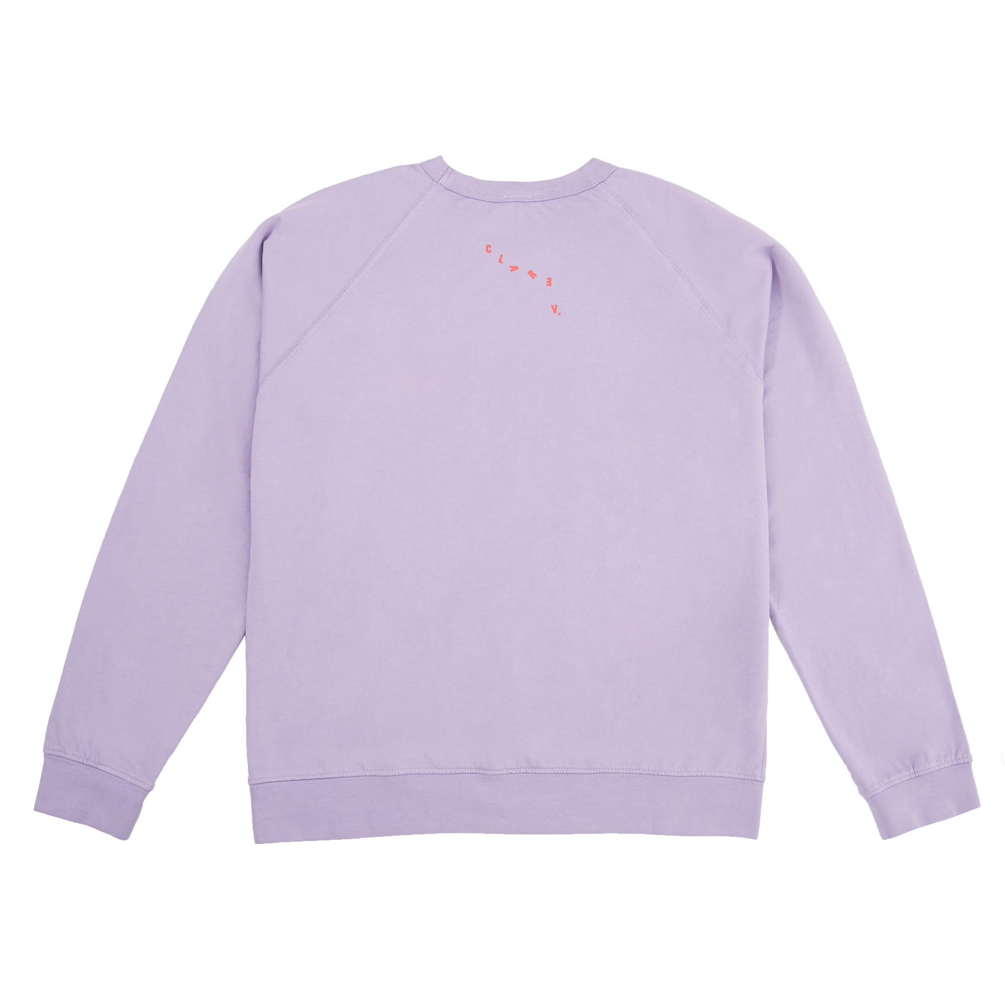 L/S Purple Sweatshirt with Lip Illustration
