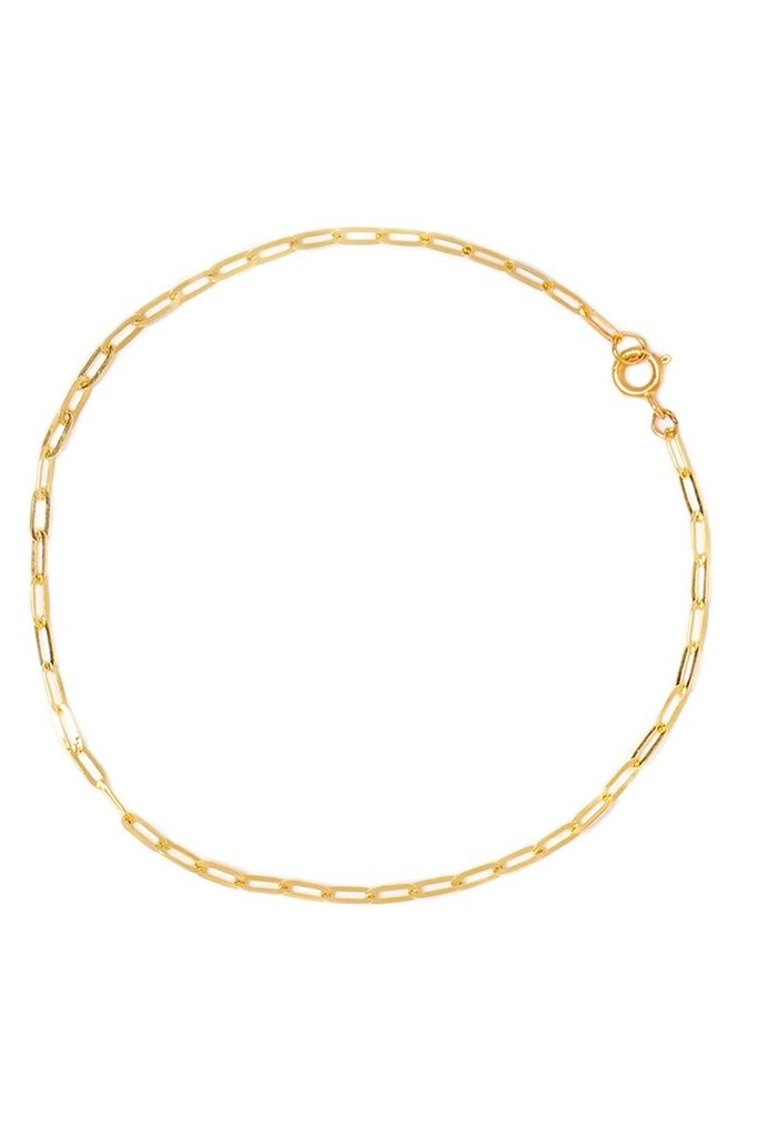 Leah Alexandra Flat Drawn Cable Bracelet 10KT Gold