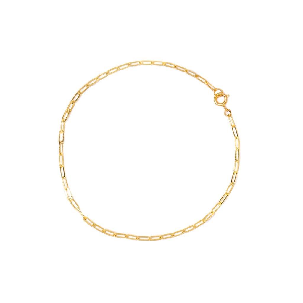 Leah Alexandra Flat Drawn Cable Bracelet 10KT Gold