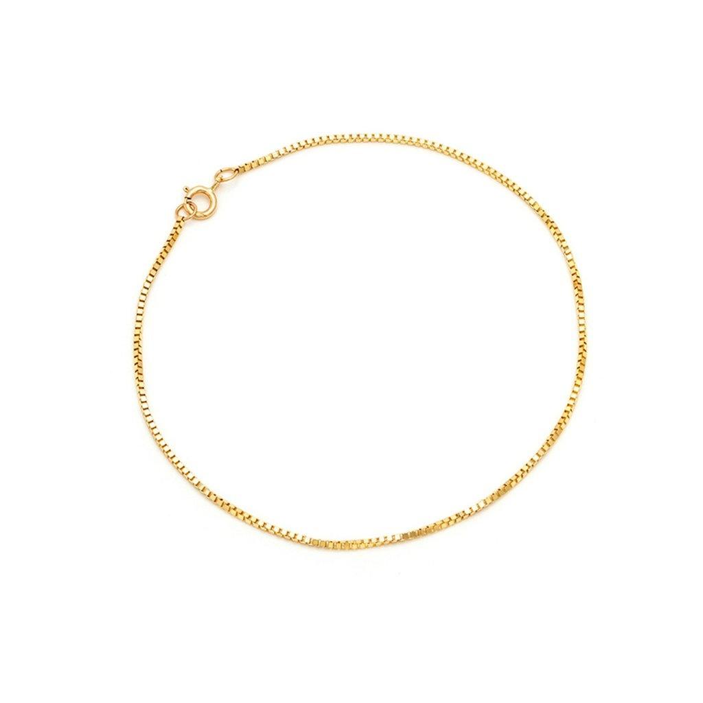 Box Chain Bracelet 14KT GF