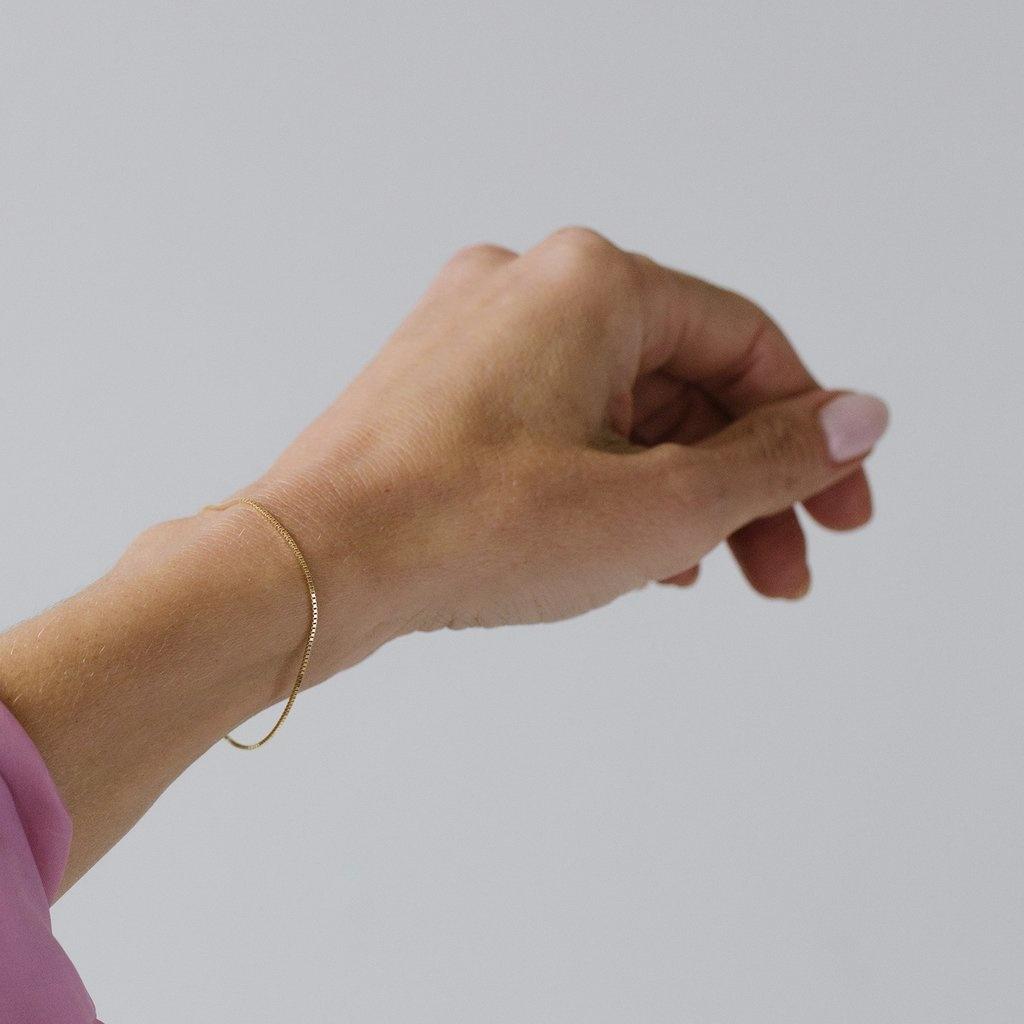 Leah Alexandra Box Chain Bracelet 14KT GF