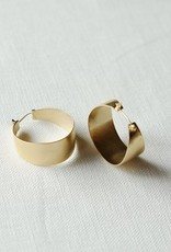 Sarah Safavi Jewelry Small Anthem Gold Plated Hoops