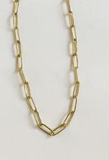 Satomi Studio Petite Bambu Link Necklace Brass
